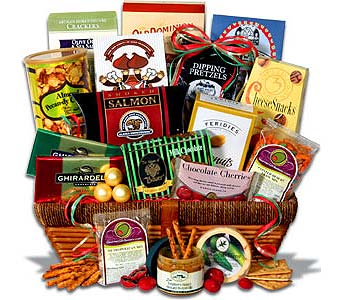 DELUXE SNACK BASKET in Stamford CT, Stamford Florist