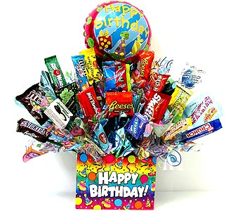 CB241 ''Party Time'' Candy Bouquet in Oklahoma City OK, Array of Flowers & Gifts