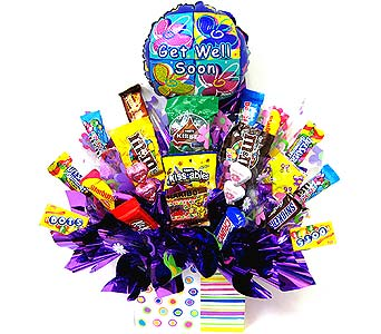 CB234 ''Get Well Surprise'' Candy Bouquet in Oklahoma City OK, Array of Flowers & Gifts
