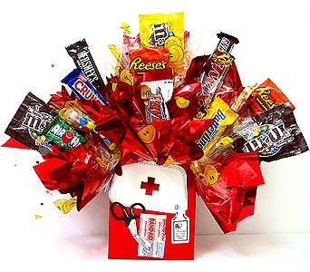 CB244 ''Healing Medicine'' Candy Bouquet in Oklahoma City OK, Array of Flowers & Gifts