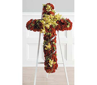 Red and Gold Cross in Coplay PA, The Garden of Eden