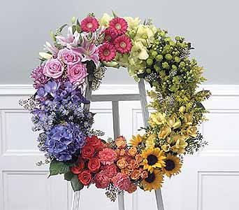Colors of the Rainbow Wreath in Coplay PA, The Garden of Eden
