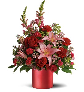 Teleflora's Red Romance Bouquet in Canisteo NY, B K's Boutique Florist