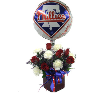 Phillies Phan Bouquet in Norristown PA, Plaza Flowers