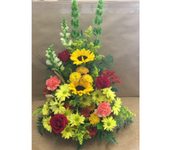 Autumn Fire Basket in Port St Lucie FL, Flowers By Susan
