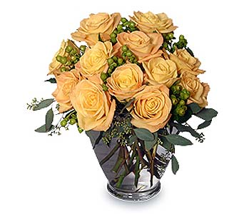 Cool Yellow Sunrise Rose Arrangement, Guaranteed Delivery - SendFlowers.com