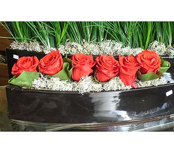 A boatful of roses in Newmarket ON, Blooming Wellies Flower Boutique