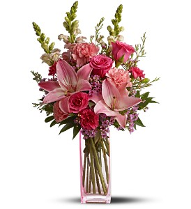 Teleflora's Pink Wink in Longview TX, The Flower Peddler, Inc.