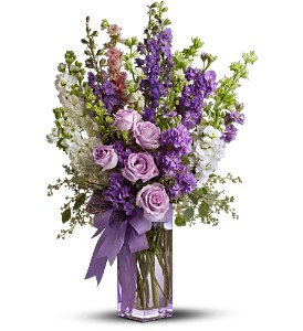 Teleflora's Pretty in Purple in Santa Monica CA, Edelweiss Flower Boutique