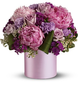 Teleflora's Princess Peony Bouquet in Jamesburg NJ, Sweet William & Thyme