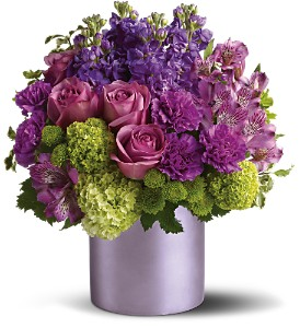 Teleflora's Purple Reign in Santa Monica CA, Edelweiss Flower Boutique