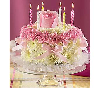 Birthday Flower Cake in Sayville NY, Sayville Flowers Inc