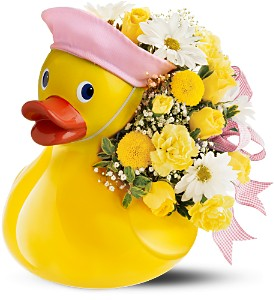 Teleflora's Just Ducky Bouquet - Girl in Roslindale MA, Calisi's Flowerland