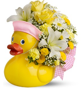 Teleflora's Just Ducky Bouquet - GIRL - Deluxe in Lancaster PA, Flowers By Paulette