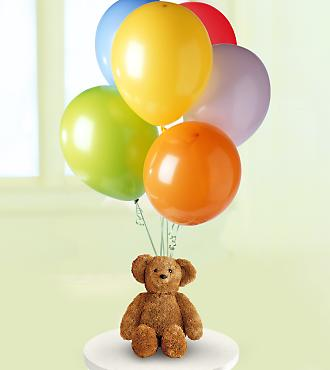 Bear and Balloon Bunch in Sayville NY, Sayville Flowers Inc