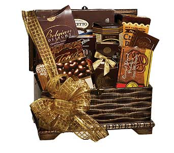 GF92 ''Chocolate Treasure Chest'' Gourmet Gift in Oklahoma City OK, Array of Flowers & Gifts