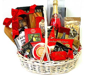 GF103 ''Taste of Wine'' Gourmet Gift Basket in Oklahoma City OK, Array of Flowers & Gifts