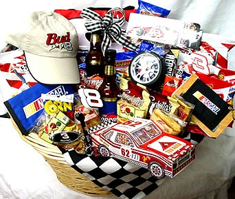 GB266 ''Victory Lap''  NASCAR Racing Gift Basket in Oklahoma City OK, Array of Flowers & Gifts