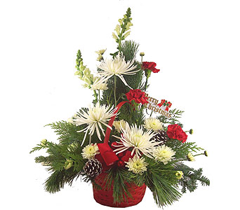 Yuletide Cheer Basket in Port St Lucie FL, Flowers By Susan