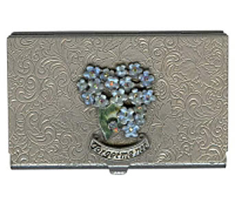 Forget Me Not Business Card Case in Lake Forest CA, Cheers Floral Creations