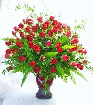 One Hundred Roses Arranged in Fort Myers FL, Fort Myers Florist, Inc.