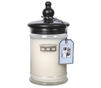 White Cotton Large Jar Candle in Norristown PA, Plaza Flowers