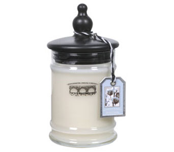 White Cotton Small Jar Candle in Norristown PA, Plaza Flowers