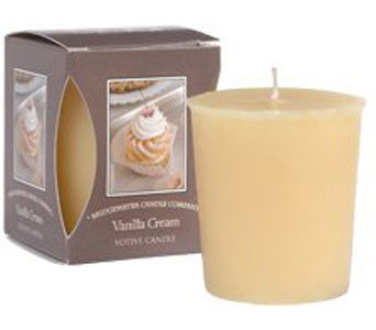 Vanilla Cream Boxed Votive Can in Norristown PA, Plaza Flowers