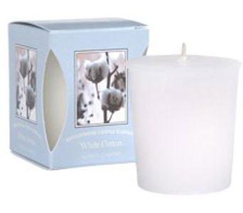 White Cotton Boxed Votive Cand in Norristown PA, Plaza Flowers