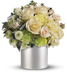 Teleflora's Silver Moon Bouquet in Jamesburg NJ, Sweet William & Thyme