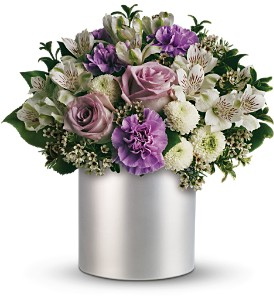 Teleflora's Silver Mist Bouquet in Jamesburg NJ, Sweet William & Thyme