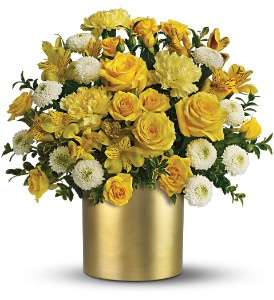 Teleflora's Golden Sunshine Bouquet in New Rochelle NY, Flowers By Sutton