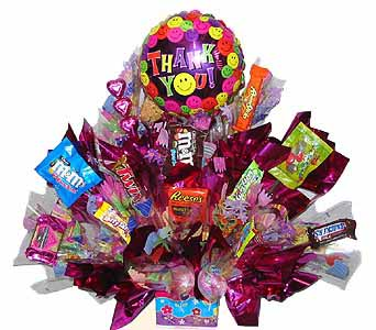 SEC97 SMILE (candy bouquet) in Oklahoma City OK, Array of Flowers & Gifts