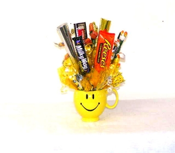 Smiley Face Candy Bouquet in Fife WA, Fife Flowers & Gifts
