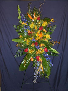 Tropical Grand Spray in Sun City Center FL, Sun City Center Flowers & Gifts, Inc.