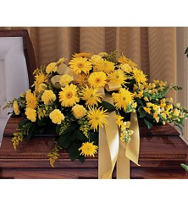 Brighter Blessings Casket Spray in Bethesda MD, Suburban Florist