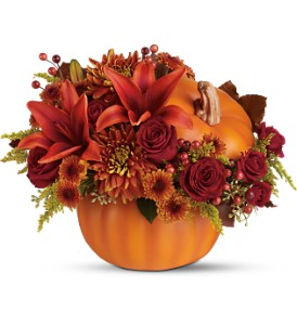 Teleflora's Prize Pumpkin Bouquet - Deluxe in Grass Lake MI, Designs By Judy