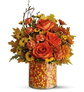 Teleflora's Candy Corn Surprise Bouquet in Grass Lake MI, Designs By Judy