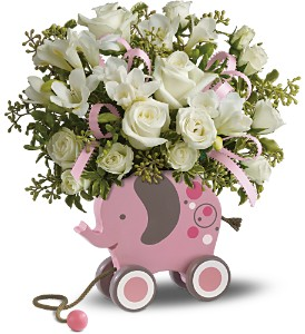 MiGi's Baby Elephant Bouquet Deluxe - Pink in Arizona, AZ, Fresh Bloomers Flowers & Gifts, Inc