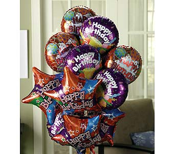 Birthday Wishes Balloon Bouquet in Princeton, Plainsboro, & Trenton NJ, Monday Morning Flower and Balloon Co.