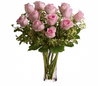 One Dozen Imported Pink Roses in Seattle WA, Topper's European Floral Design