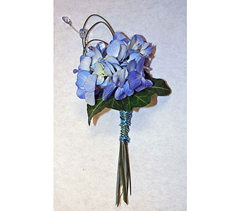 Blue Hydrangea Boutonniere blue hydrangea boutonniere flowers in ... Blue Hydrangea Boutonniere