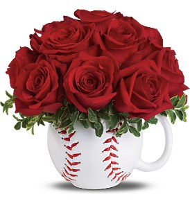 Teleflora's Play Ball Bouquet Deluxe in Boston MA, Exotic Flowers