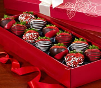 Happy Valentine�s Day Chocolate Covered Strawberri in Orlando FL, University Floral & Gift Shoppe