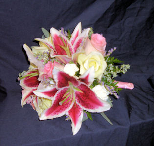 Bride Bouquet with Stargazers in Sun City Center FL, Sun City Center Flowers & Gifts, Inc.