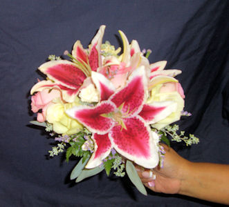Bride Bouquet with Stargazers (2) in Sun City Center FL, Sun City Center Flowers & Gifts, Inc.