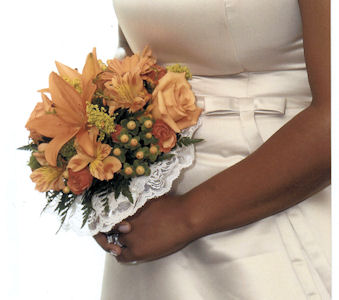 Marva''s Wedding Bridesmaid Bouquet in Sun City Center FL, Sun City Center Flowers & Gifts, Inc.