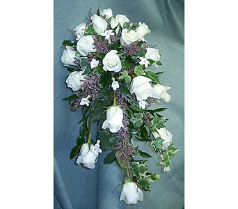 Purple and White Cascading BeautyPlease call for more info 888-279-7845 in Manotick ON, Manotick Florists
