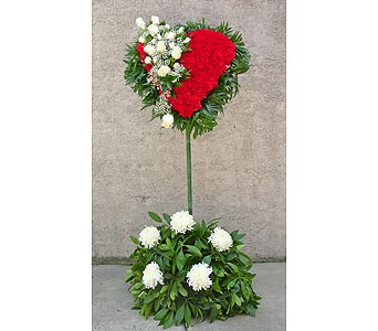 Carnation Standing Heart with Rose Break in Rockledge PA, Blake Florists