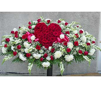 Rose Heart Casket Spray in Rockledge PA, Blake Florists